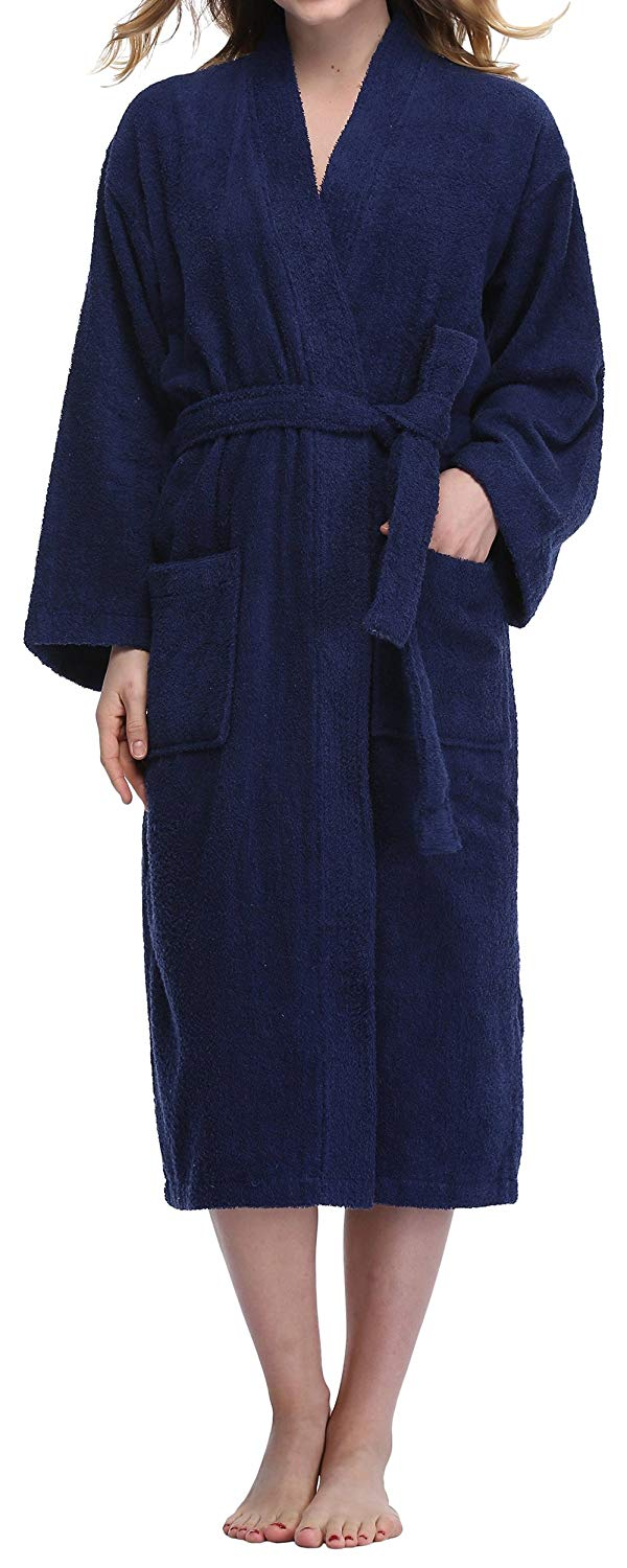 db08456a07 Get Quotations · VOGMATE Women s Robe 100% Turkish Cotton Kimono Robe Terry  Towelling Spa Bathrobe Sleepwear