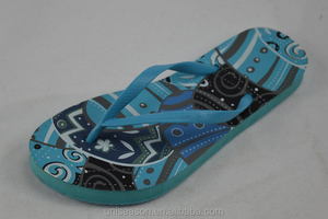 Ornate Insole Print Flipflop Chinese Man naked Slipper
