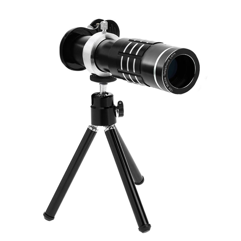 18x Zoom Phone Telescope Telephoto Camera Lens + Tripod