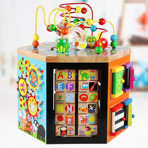 children toys new 2017 hot sell wooden Multifunction activity cubes educational toys