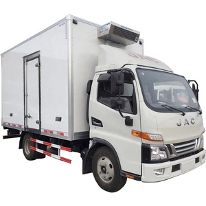 JAC cold storage box frozen food transport vehicle, refrigerated truck for sale