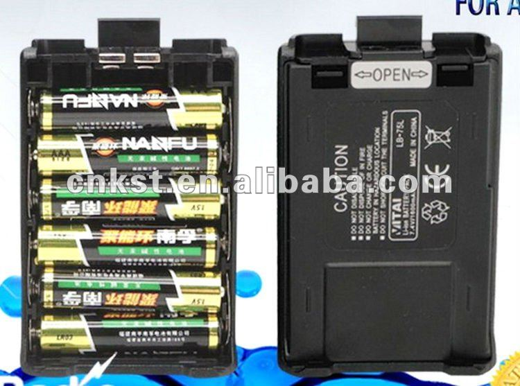 LB-75N Two-way Radio Battery Pack Battery Case for Baofeng UV-5R ,TYT F8 F9 ,VITAI VT-UV3 VT-UV9R