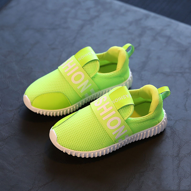 2016 Autumn Child Boys Girls Sports Shoes Kids Breathable Soft Bottom Sneakers Shoes Toddler Lightweight Fashion