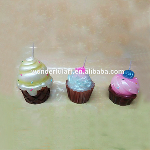 new design handmade cupcake candles,design candle,decorative candls