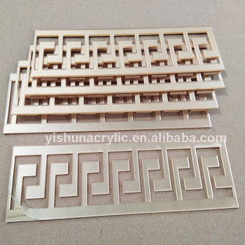 plastic pmma acrylic mirror sheets laser cut to size and shape