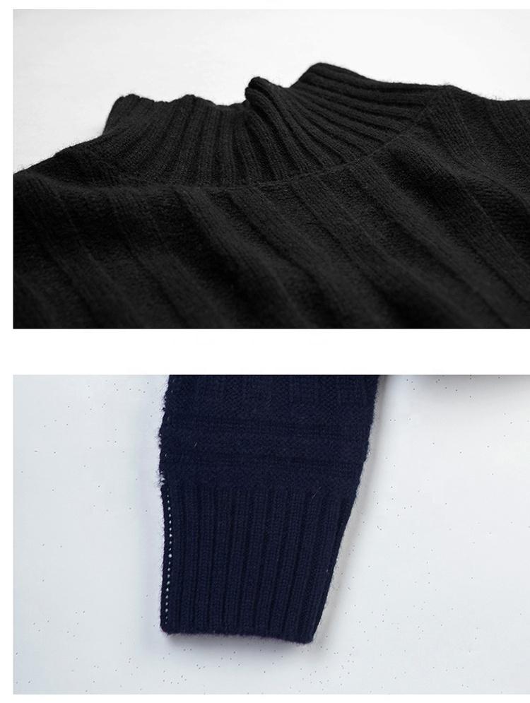 Aangepaste groothandel geribbelde boutique vrouwen kleding kasjmier truien