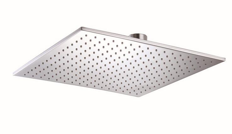 Modern shower accessory 16inch square rain shower head for bathroom,copper shower head