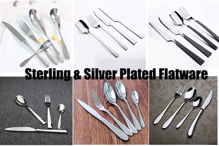Sterling silver unique flatware for Holiday anniversary day hotel restaurant household gift dealer and wholesale