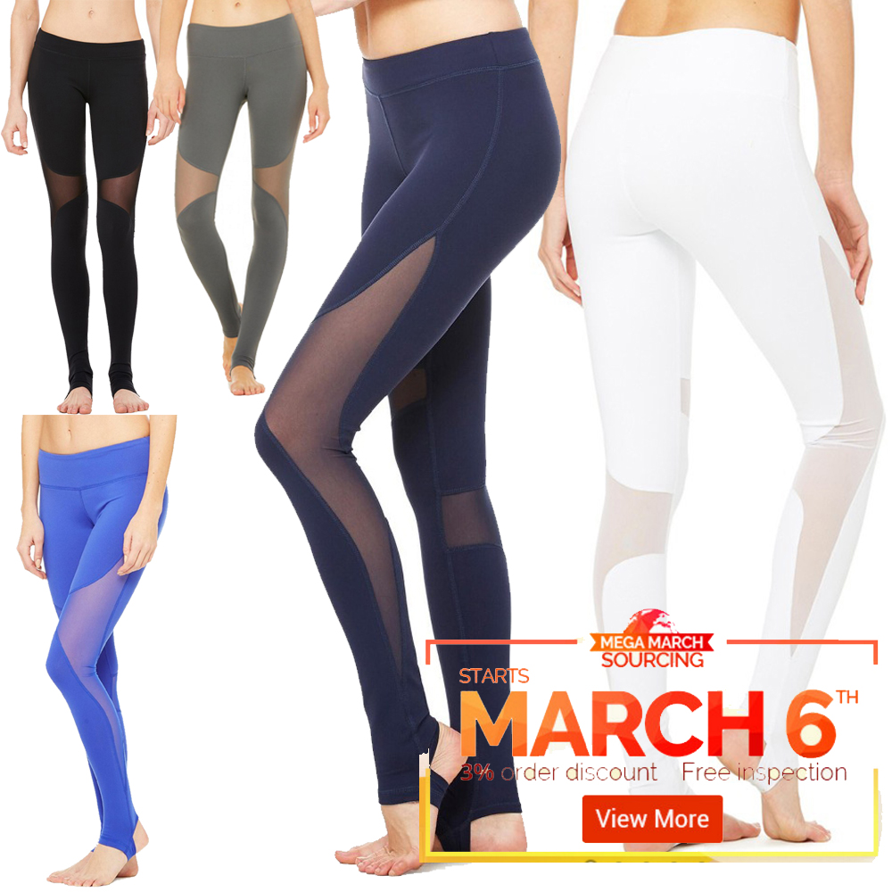 #WMLL701 Full-length Skin Tight Compression Quick Dry Lady Black Fitness running sport yoga Leggings