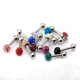 Body Jewelry Labret Rings Stainless Steel Full Crystal Disco Ball Lip Piercing Jewelry Lip Ring