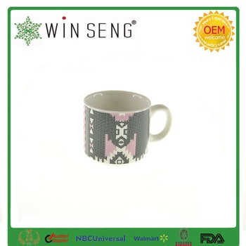 Porcelain Ceramic Coffee Mug Cup With Ring