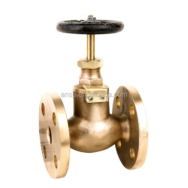 marine shut-off brass fire valve
