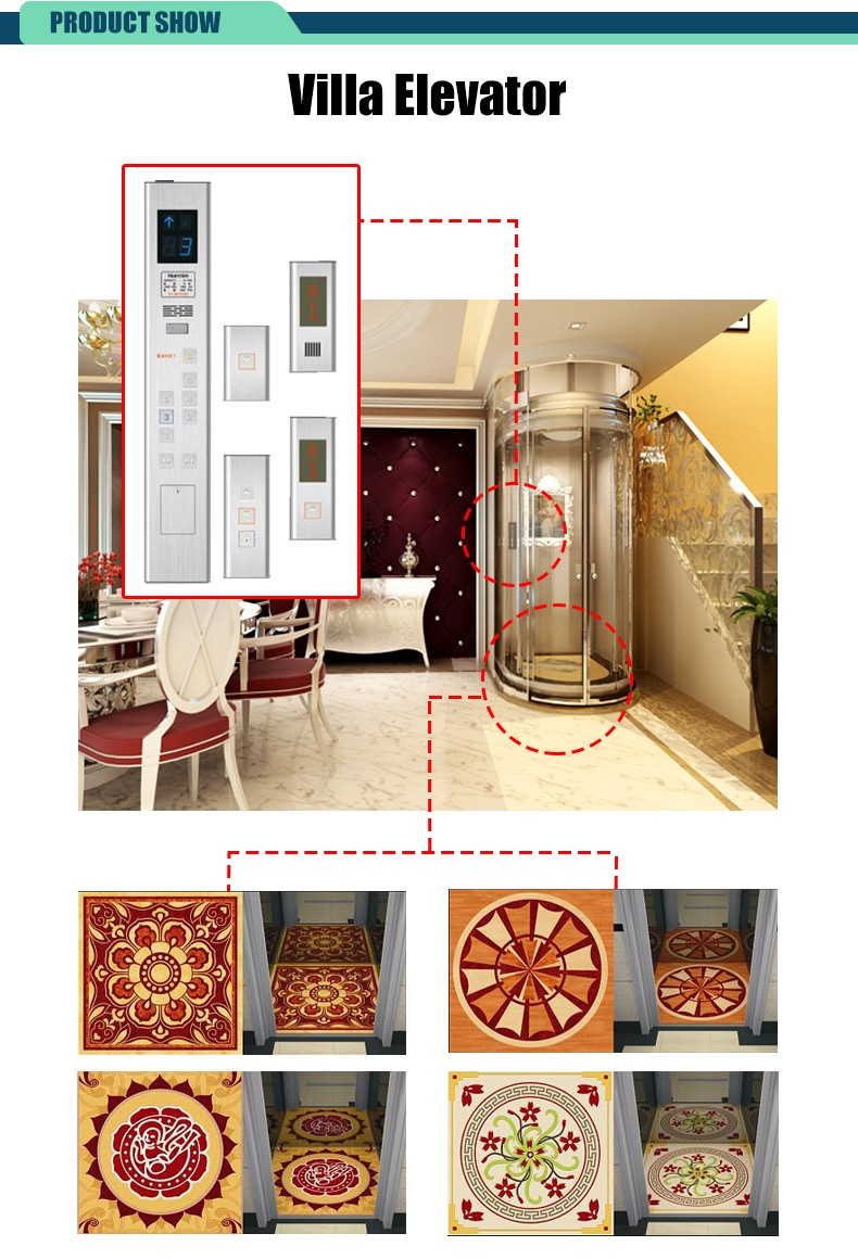 Hc 320 china manufacturer higher cost performance iso wall Home elevator kits