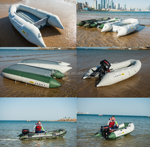 (CE) 3.6m for 6 person pvc inflatable fishing boat inflatable aluminum rubber rowing boat motor with inflatable boat
