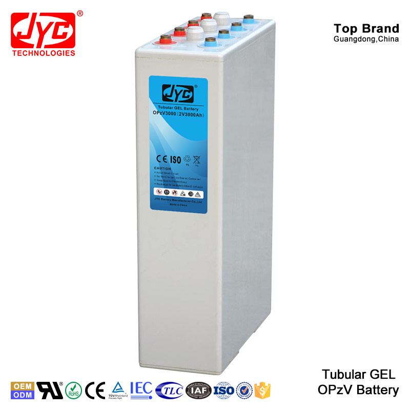 JYC Battery Manufacturers High Quality Deep Cycle Tubular Gel OPzV Industrial Battery 2V 3000Ah