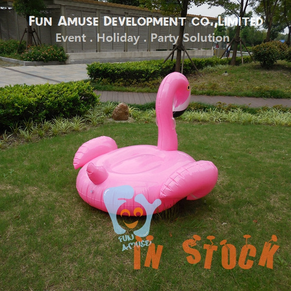 Hot selling pink air mattress giant inflatable pool float flamingo