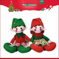 China manufacturer Christmas plush elf doll