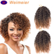 3 pieces/pack ombre afro kinky curly mali bob synthetic crochet twist braiding hair extentions