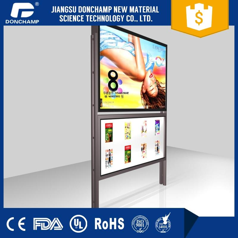 brand shoe led light box display advertising acrylic board