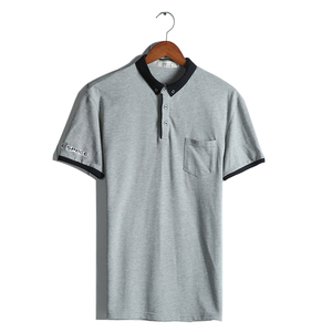 Wholesale Custom Mens Summer Polo Shirt, Bulk Blank Polo Clothing Garment With Pocket
