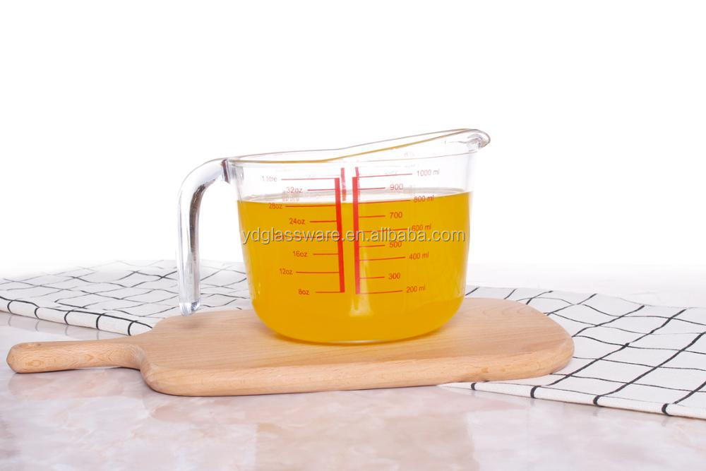 High Borosilicate Food Grade Glass Measuring Cup For a wide range of cocktails