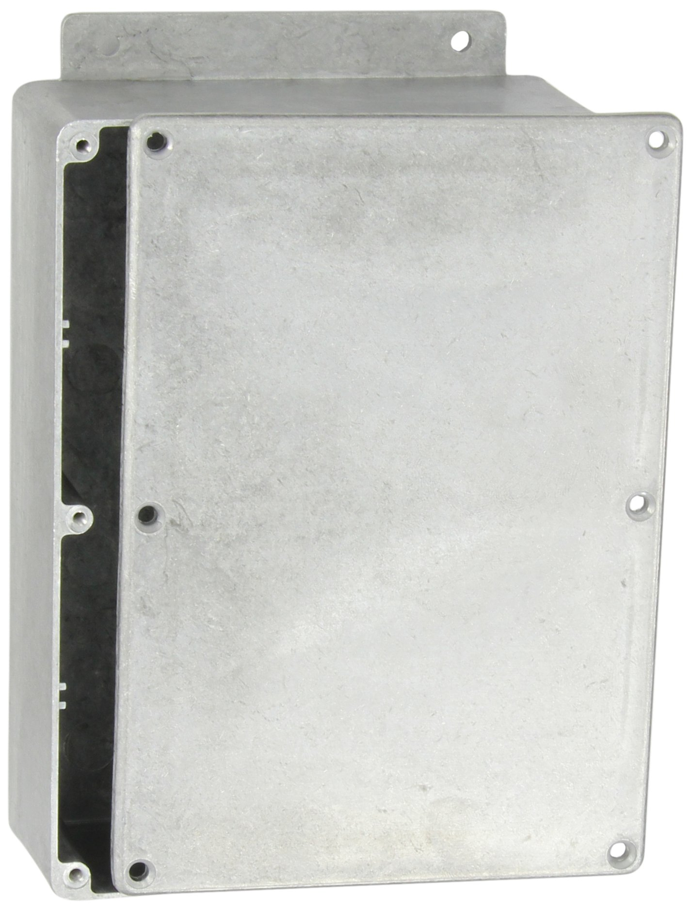"""BUD Industries CN-6709 Die Cast Aluminum Enclosure with Mounting Bracket, 6-49/64"""" Length x 4-49/64"""" Width x 2-7/32"""" Height, Natural Finish"""