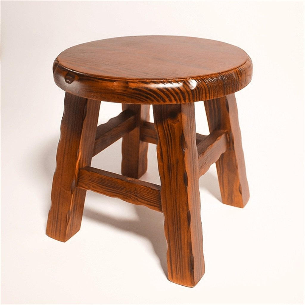 AIDELAI Stool chair Stool Solid Wood Small Round Stool Coffee Table Stool Stool Home Wood Stool Small Wooden Stool Saddle Seat