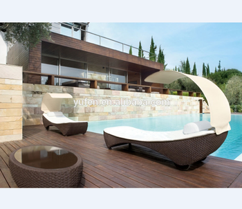All-weather Wicker Swimming Pool Lounge Chair With Shade - Buy Swimming  Pool Chair,Pool Chair,Lounge Chair Replica Product on Alibaba.com