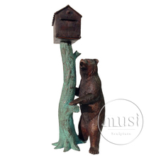 Famous Design copper animal sculpture of bear for garden decoration