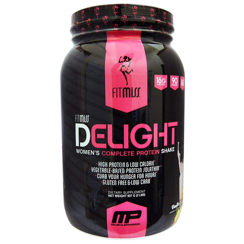 FitMiss, Delight, Women's Complete Protein Shake, Vanilla Chai, 2 lbs (907 g) - 2pc