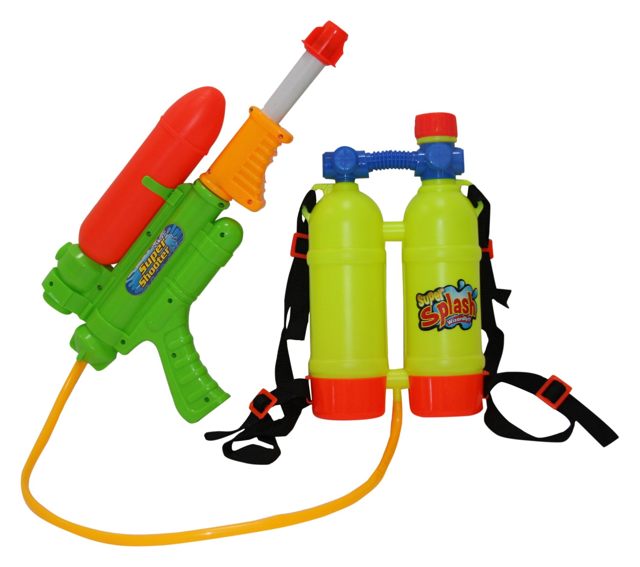 SINTECHNO Water Gun with Backpack Double Water Tanks, 17""