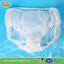 Manufacture disposable panties/disposable underwear/sauna pants/briefs for Swimwear,SPA,sauna,hospital,travel,babies,puerpera..