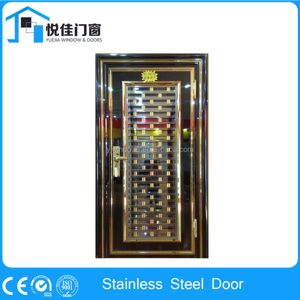 Ss9601 single leaf entry door safety door design with grill for home - China Entrance Security Stainless Steel Single Door Design Door China Entrance Security Stainless Steel Single Door Design Door Manufacturers And Suppliers