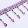Wholesale Beautiful Purple Beads Fringes trim For Curtains in india, Fabrics
