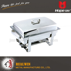 9L Chafing Dish Sets Stainless Steel Folding Chafer Rectangular kitchen machine