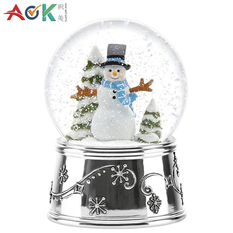 Aok Partei Dekorative Geschenk Harz Snowman Wasserkugel Glas Schneekugel Buy Wasser Globusglas Schnee Ballschnee Ball Product On Alibabacom