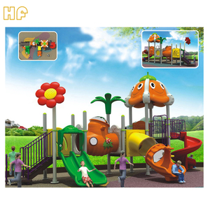 Miniature forest type outdoor kids popular plastic playground/kids outdoor entertainment equipment HF-G042C