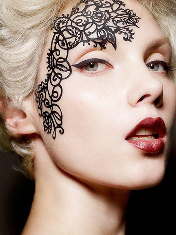 Custom flash face stickers Temporary eye tattoo stickers Halloween  decoration face stickers