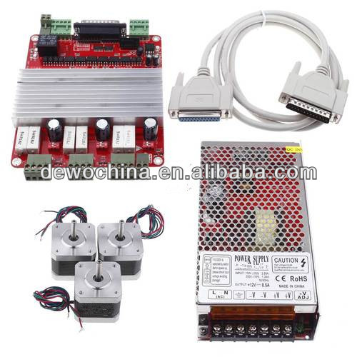 CNC Kit TB6560 3 Axis Driver + 3 x Nema 17 Stepper Motor 48oz-in + parallel cable