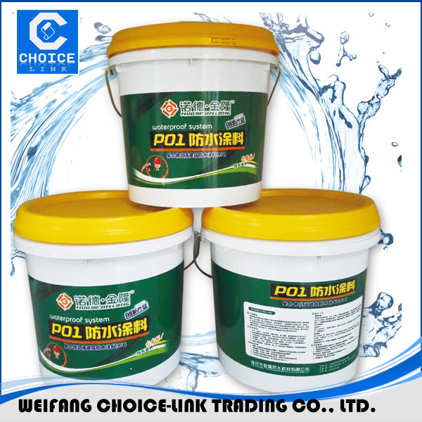 Colored waterproofing materials for concrete roof PU waterproof coating/paint