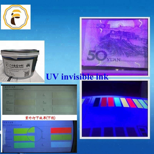 Screen Printing UV Fluorescent Invisible Ink for paper