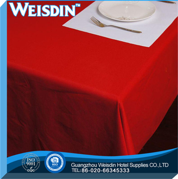 Hotel new style Plaid hand embroidered linen tablecloths