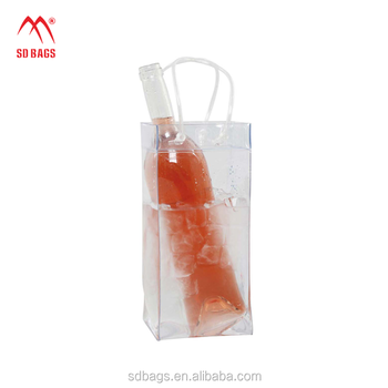 Best selling transparent wine packing watertight clear PVC bottle bag