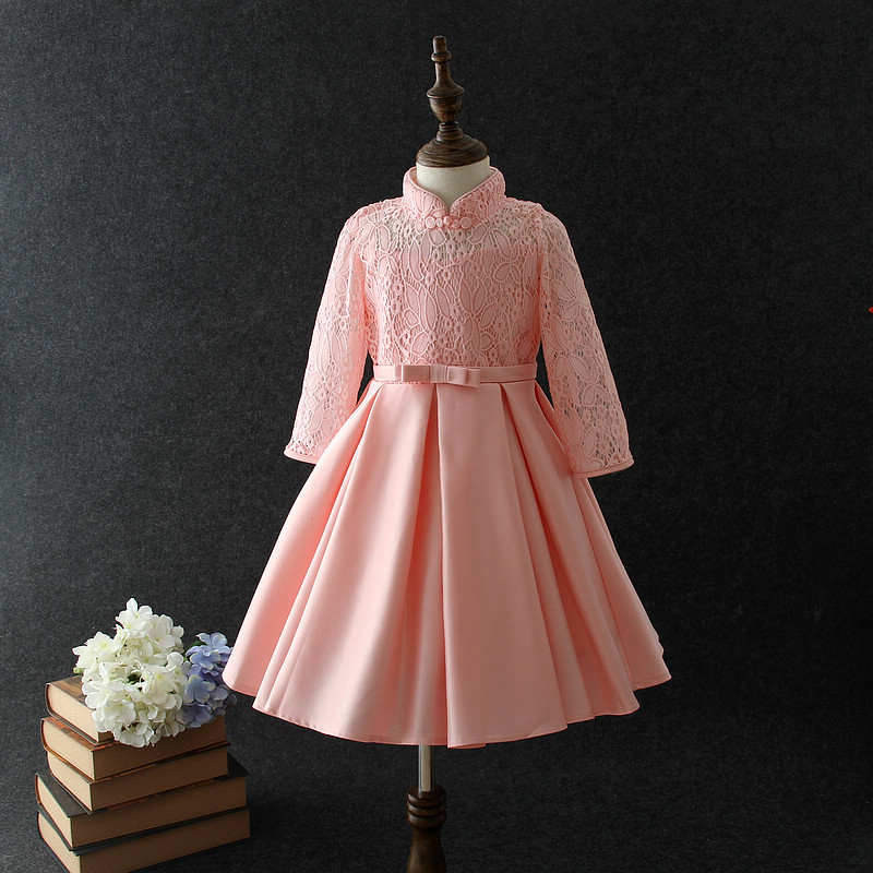 New Satin Frock Designs For Kids Winter Long Sleeve Cotton