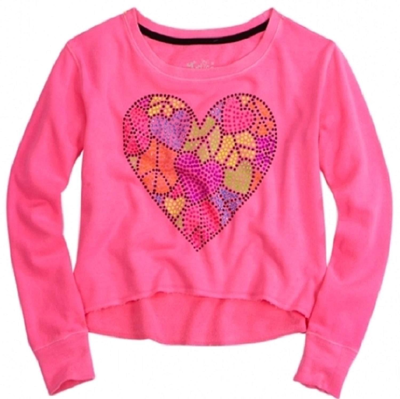 Justice for Girls Neon Rockin Dinosaur Embellished Tunic Sweatshirt