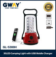 30 leds rechargeable hand emergency lantern light with usb output