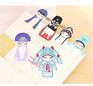 Creative Chinese Peking Opera Classical Elements Bookmark Office School Supplies Bookmark 7 Pcs/set