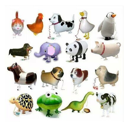 20pc lot happy birthday gift walking foil balloons as gift farm animal can hold farm party