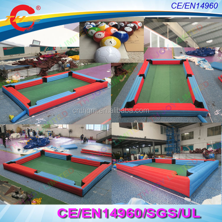 Outdoor Giant Human Inflatable Snooker Pool Table With Snooker Balls - Human pool table