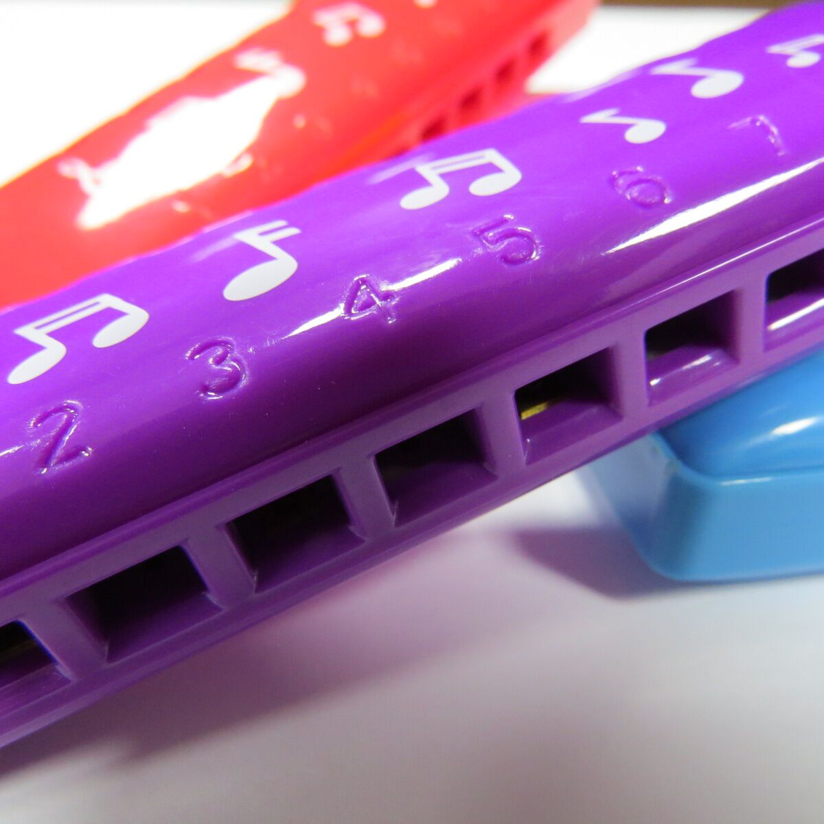 DF8A 8 holes colourful promotion harmonica toy  plastic harmonica